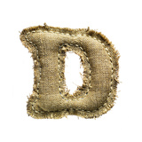 Linen Vintage Cloth Letter D Isolated On White Posters by  smaglov