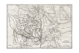 Old Map Of Abyssinia With Red Sea Region Map Insert Giclee-tryk i høj kvalitet af  marzolino