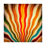 Multicolor Sunbeams Grunge Background. A Vintage Poster Posters by  molodec