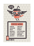 Cafe Menu. Seamless Background And Design Elements Posters by  ussr