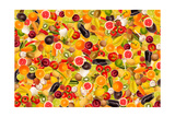 Different Types Of Fruit And Vegetables As Background, Colorful Posters by  pasiphae