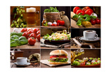 Food And Drink Collection Print by  Nitr