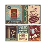 Vintage Coffee Posters And Metal Signs Poster av  Lukeruk