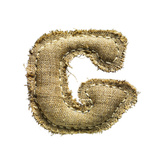 Linen Vintage Cloth Letter G Isolated On White Posters by  smaglov