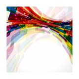 Multicolor Abstract Bright Background. Elements For Design Prints by  OlgaYakovenko