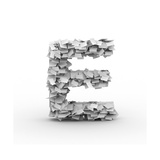 Letter E, Stacked From Paper Sheets Prints by  iunewind