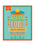 Vintage Mexican Food Poster Posters by  avean