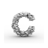 Letter C, Stacked From Paper Sheets Prints by  iunewind