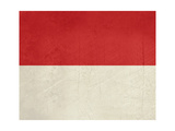 Grunge Sovereign State Flag Of Country Of Monaco In Official Colors Posters by  Speedfighter