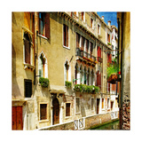 Colors Of Romantic Venice- Painting Style Series - Architecture Prints by  Maugli-l