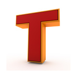 3D Alphabet, Letter T Isolated On White Background Posters by Andriy Zholudyev