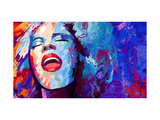 Singer On Grunge Prints by  isaxar