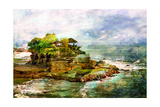 Ancient Balinese Temple - Picture In Painting Style Poster par  Maugli-l