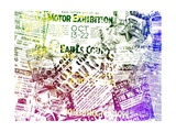 Vintage Newspaper Colorful Background Posters by  oriontrail2