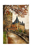 Alcazar Castle - Medieval Spain Painted Style Series Prints by  Maugli-l