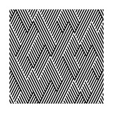 Pattern In Zigzag With Line Black And White Posters by  Lavanda