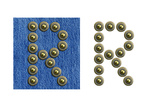 Jeans Rivet Alphabet Letter R. On Jeans Background And Isolated Posters by  donatas1205