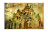 Sacre Coeur - Artwork In Painting Style Print by  Maugli-l