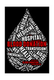 Blood Donation Pictogram With White Wordings Art by  seiksoon