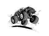 Cartoon Monster Truck Posters by  Mechanik