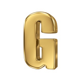 3D Golden Letter Collection - G Posters by  smaglov