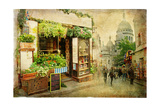 Parisian Streets - Montmartre Poster by  Maugli-l