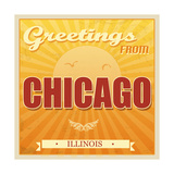 Vintage Chicago, Illinois Poster Posters by  radubalint
