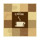 Retro Vintage Coffee Background Prints by  radubalint