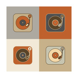 Retro Record Player Icons Prints by  YasnaTen