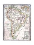 Viejo Mapa de América del Sur Arte por  Tektite