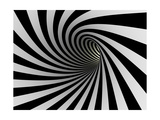 Tunnel Of Black And White Lines Posters by  iuyea