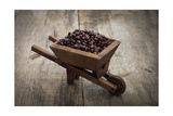 Coffee Beans In A Wheelbarrow Print by  kbuntu