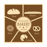 Vintage Poster Of Bakery Prints by  radubalint