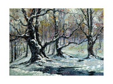 Oak Grove In The Winter Prints by  balaikin2009