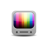 Rainbow Colored Tv Set Print by  YasnaTen