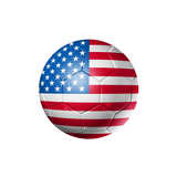 Soccer Football Ball With Usa Flag Prints by  daboost