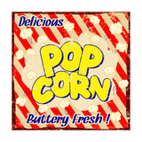 Pop Corn Vintage Poster Prints by  radubalint