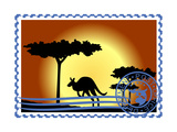 Postage Stamp. Australia Posters by  GUARDING-OWO