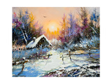 Rural Winter Landscape Print by  balaikin2009