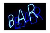 Abstract Neon Sign Bar Poster par  kirza