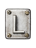 Old Metal Alphabet Letter L Poster by  donatas1205