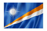 Marshall Islands Flag Premium Giclee Print by  daboost