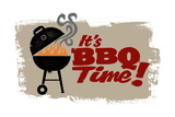 Vintage Bbq Grill Party Poster by  daveh900