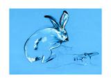 Rabbit And Llama Painting Posters by Boyan Dimitrov