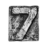 Metal Alloy Alphabet Number 7 Prints by  donatas1205