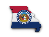 Missouri Flag Map Shape Prints by  NiroDesign
