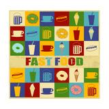 Fast Food Vintage Poster Print by  radubalint
