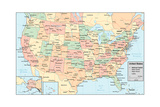 United States Of America Map Prints by  rook