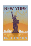 New York Vintage Poster Art by  paulrommer