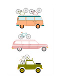 Cars Transporting Bicycles Prints by Norbert Sobolewski